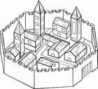 Malvorlage  Stadtmauer
