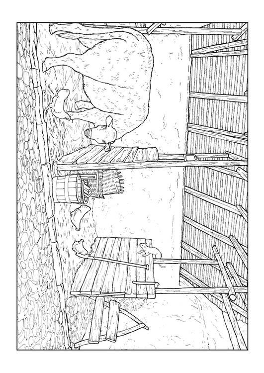 Malvorlage Stall Ausmalbild 9894 Images