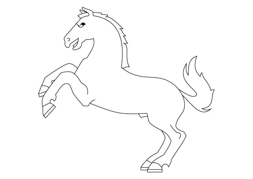 Malvorlage Steigendes Pferd Ausmalbild 9872