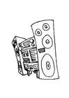 Malvorlage  Stereoanlage
