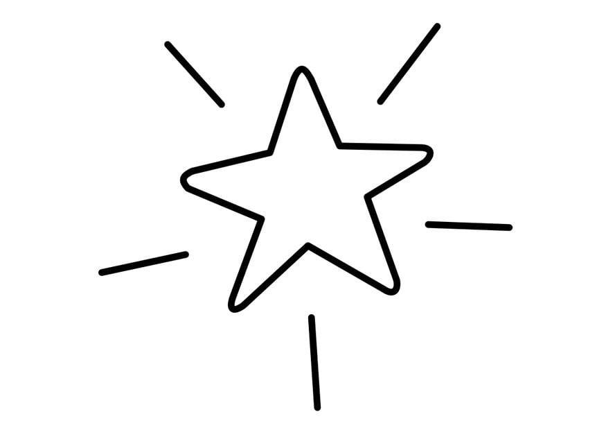 malvorlage stern  ausmalbild 23937