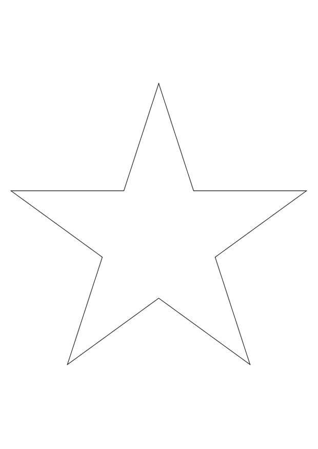 Malvorlage Stern | Ausmalbild 27796.