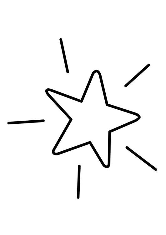 Malvorlage Stern Ausmalbild 22742