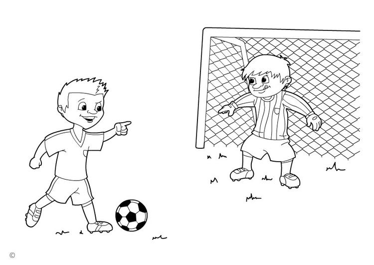 ausmalbilder fussball torwart