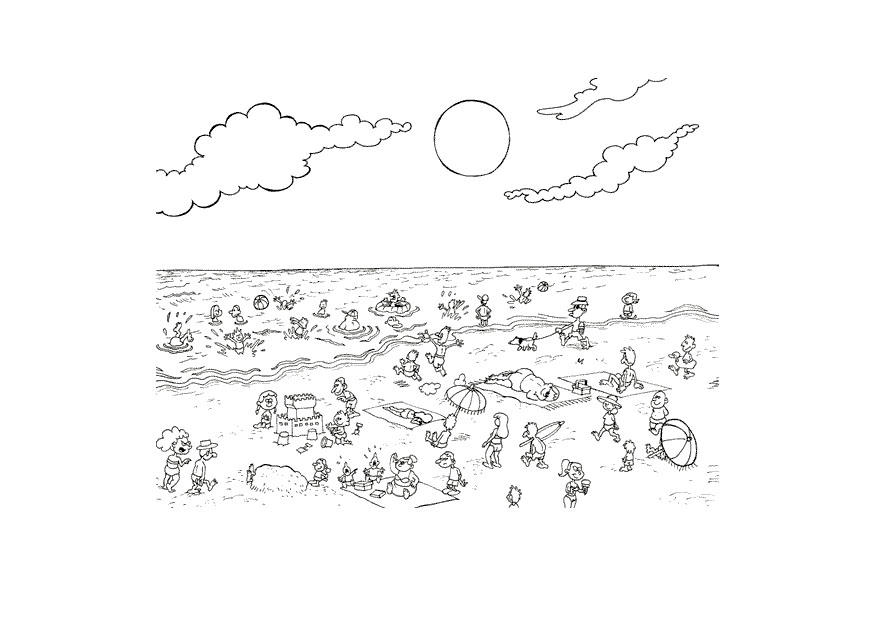 Coloring Pages Of The  Plages