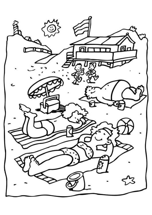 Malvorlage Strand | Ausmalbild 6599.