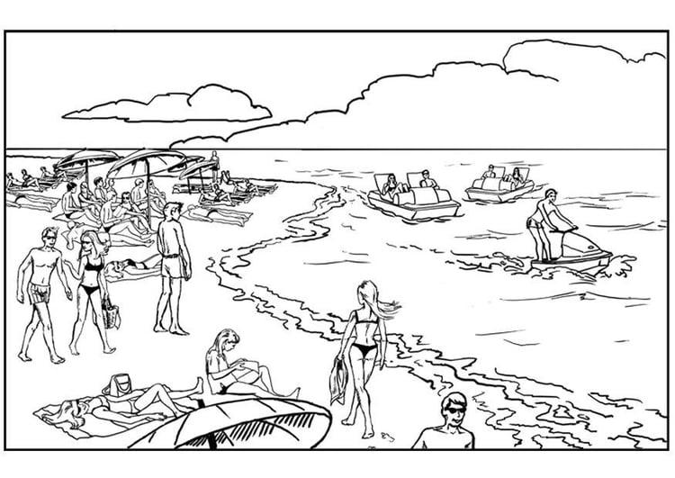 Malvorlage Strand Und Meer Ausmalbild 8066