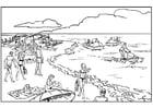 Malvorlage  Strand und Meer