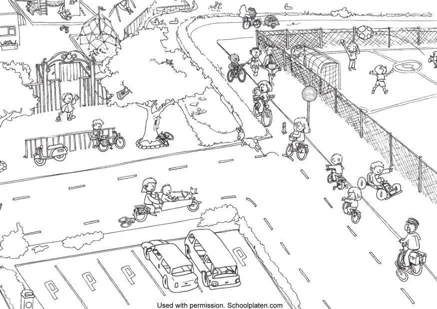 Malvorlage Strassenverkehr | Ausmalbild 5366.
