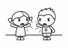 Malvorlage  Streit