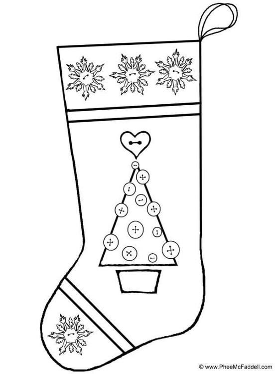 Malvorlage Strumpf Weihnachten   Ausmalbild 6914.