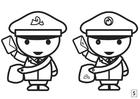 Malvorlage  Such die Unterschiede - Postbote