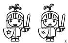Malvorlage  Such die Unterschiede - Ritter