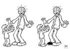 Malvorlage  Such die Unterschiede - Vatertag