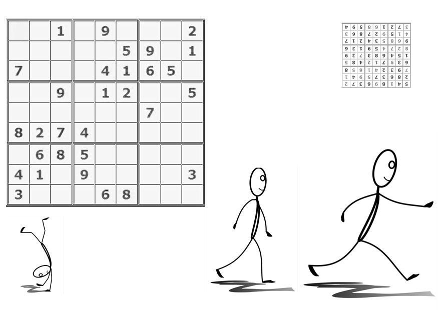 Malvorlage Sudoku - bewegen | Ausmalbild 21110.