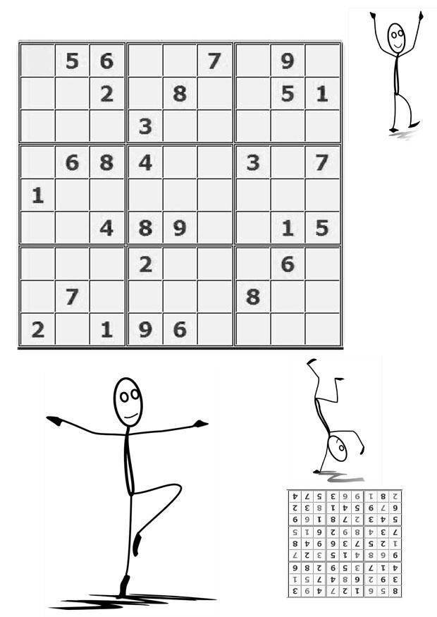Malvorlage Sudoku - bewegen | Ausmalbild 21111.