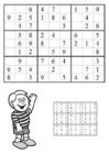 Malvorlage  Sudoku - Junge