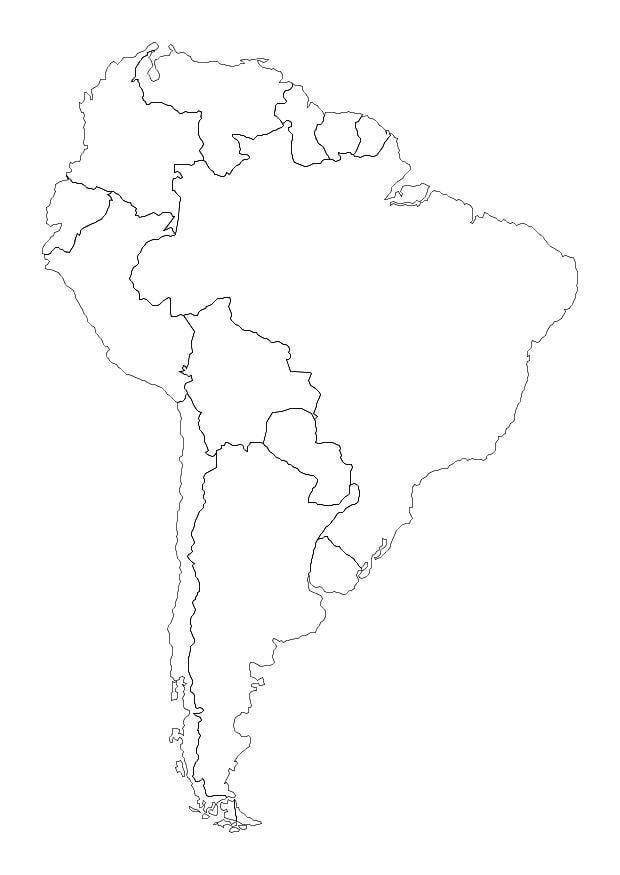 Malvorlage Südamerika | Ausmalbild 10700.