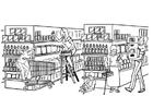 Malvorlage  Supermarkt