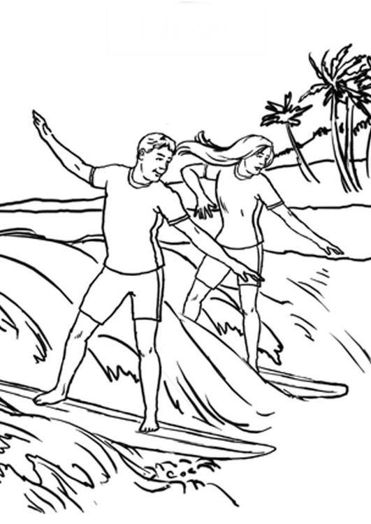 malvorlage surfen  kostenlose ausmalbilder zum ausdrucken