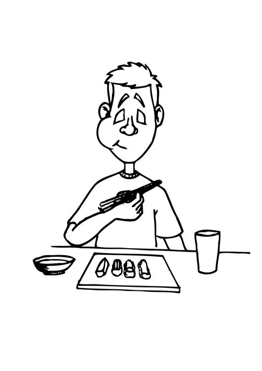 malvorlage sushi essen  kostenlose ausmalbilder zum