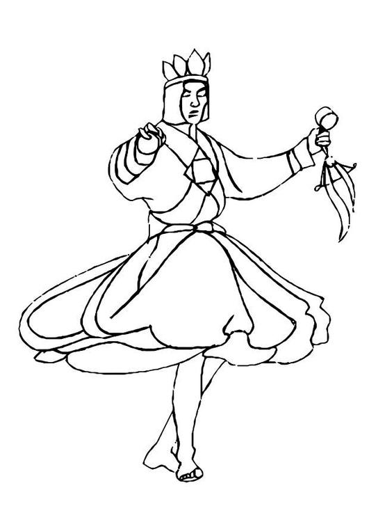 malvorlage tänzer  ausmalbild 10986