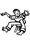 Malvorlage  Tänzer