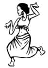 Malvorlage  Tänzerin