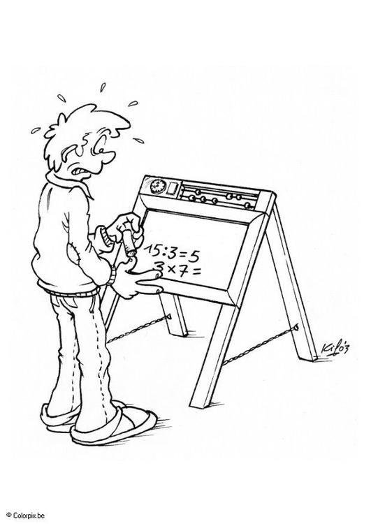 Malvorlage Tafel mit Zahlen | Ausmalbild 5511.