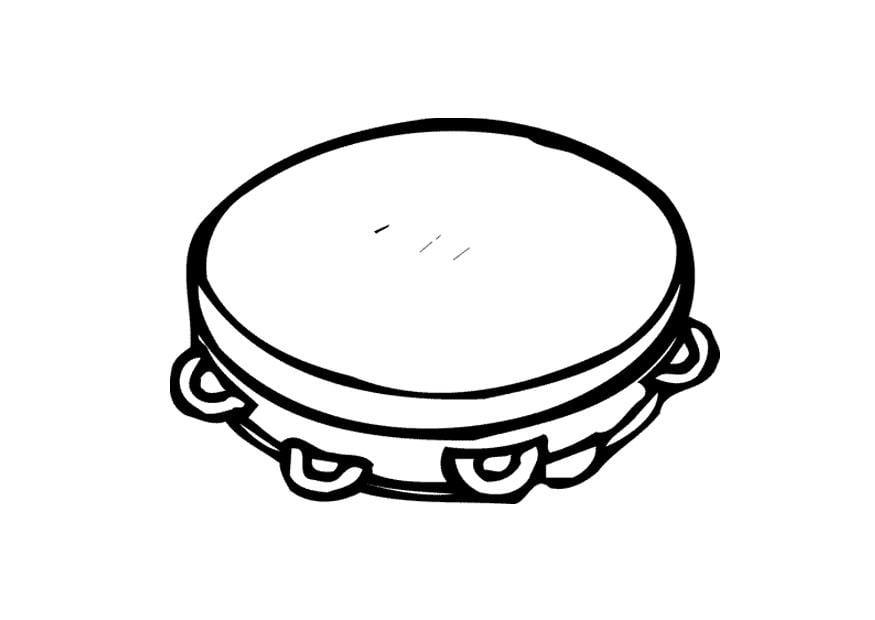 malvorlage tamburin  ausmalbild 9591