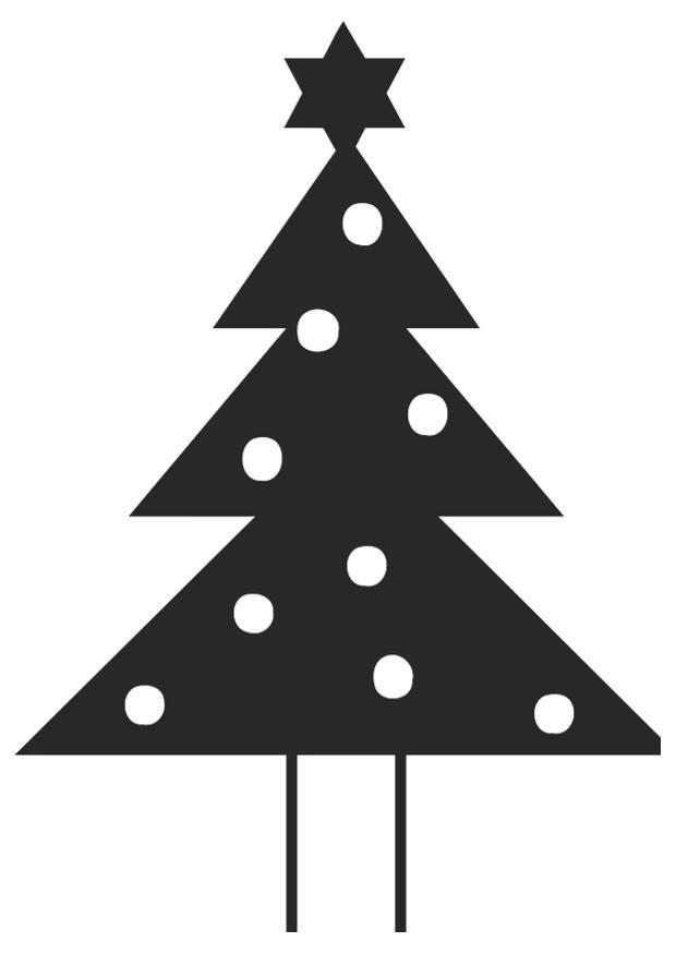 malvorlage tannenbaum mit weihnachtsstern  kostenlose