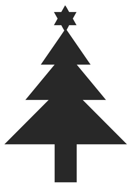 Weihnachtsstern Für Tannenbaum.Malvorlage Tannenbaum Mit Weihnachtsstern Ausmalbild 20404 Images