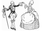 Malvorlage  Tanz - Menuett