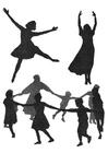 Malvorlage  Tanz