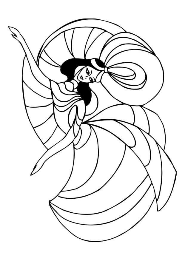Malvorlage tanzen   Ausmalbild 30117.