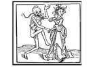 Malvorlage  tanzen mit dem Tod