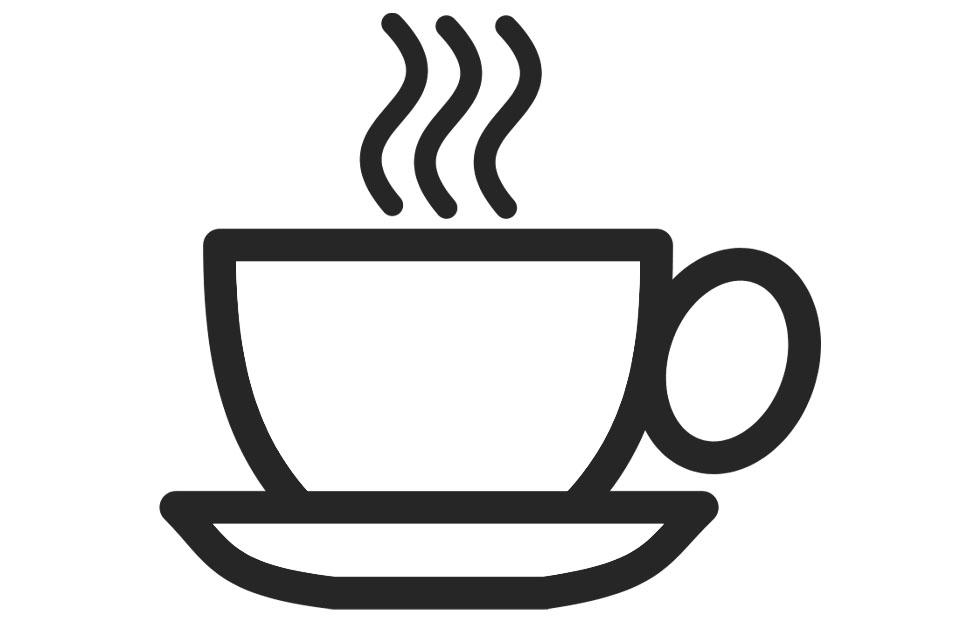 Malvorlage Tasse Kaffee | Ausmalbild 22766.