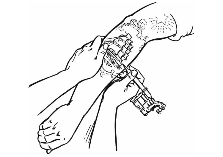 Malvorlage Tattoo Kostenlose Ausmalbilder Zum Ausdrucken