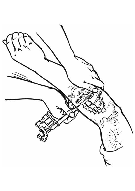 Malvorlage tattoo ausmalbild 13282 - Coloriage de tatouage ...