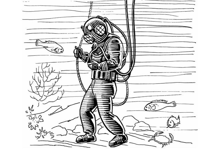 Malvorlage taucher ausmalbild 13289 - Dessin plongeur ...