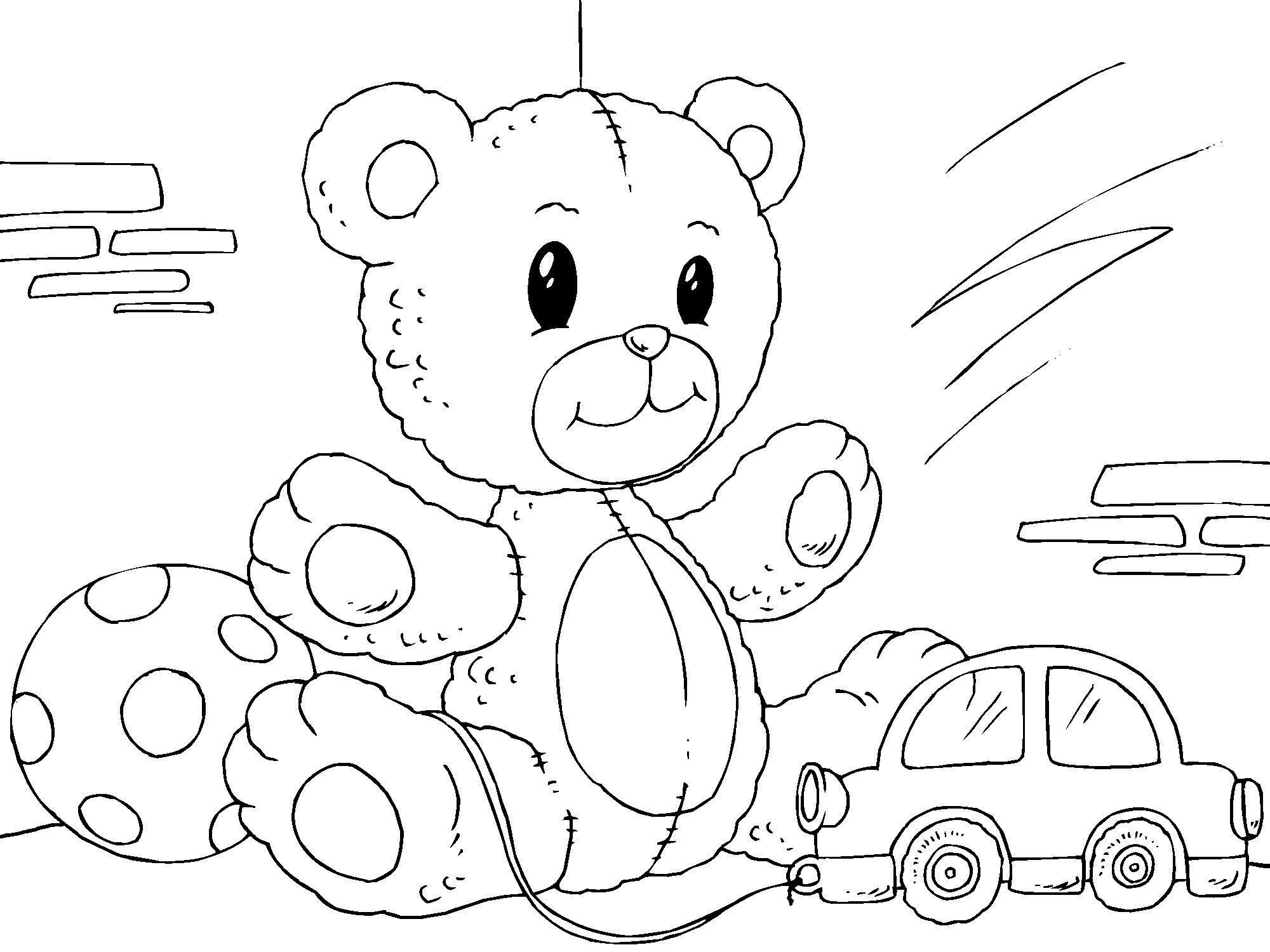 Malvorlage Teddybär | Ausmalbild 22822.