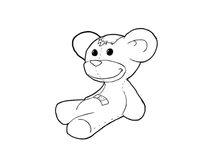 Malvorlage Teddybär Ausmalbild 13736