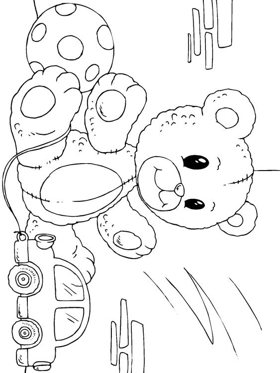 Malvorlage Teddyb 228 R Ausmalbild 22822