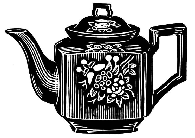 malvorlage teekanne ausmalbild 18942