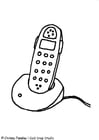 Malvorlage  Telefon