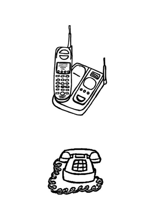 malvorlage telefone  kostenlose ausmalbilder zum