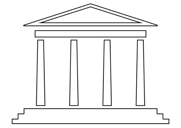 Malvorlage Tempel | Ausmalbild 22529.