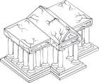 Malvorlage  Tempel
