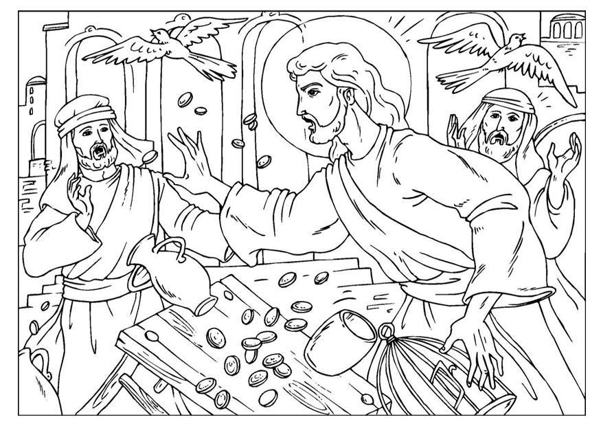 Malvorlage Tempelreinigung Kostenlose Ausmalbilder Zum Ausdrucken Bild 25918