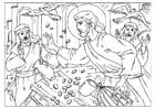 Malvorlage  Tempelreinigung